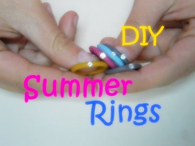 ~DIY~ I Coloratissimi Anelli dell'Estate ☼ Colorful Summer Rings (Polymer Clay Tutorial)