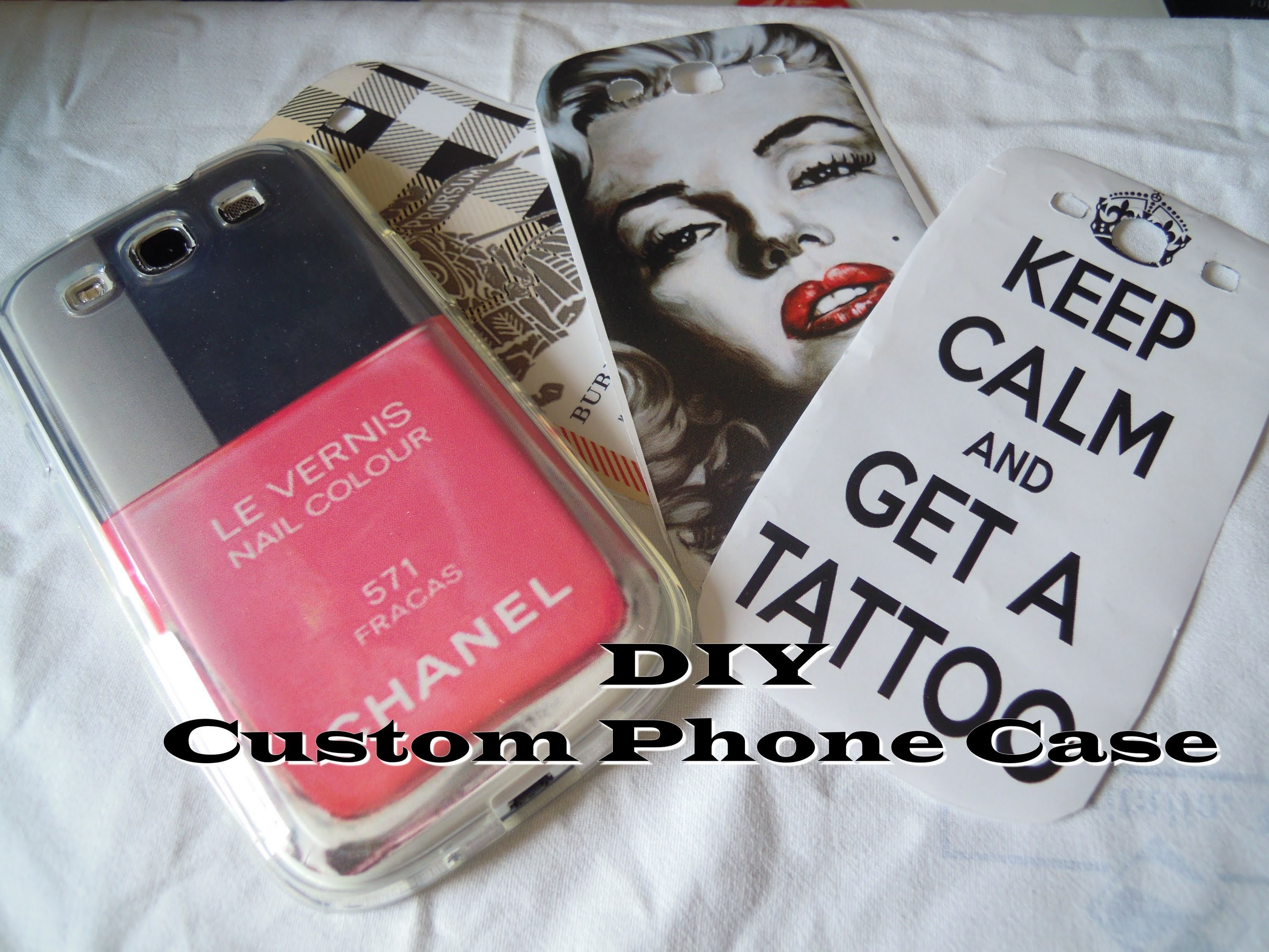 DIY: phone case customized for iphone & galaxy s3