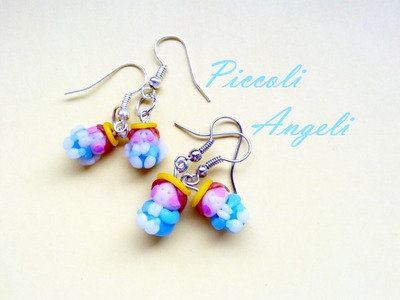 DIY Piccoli Angeli: Orecchini in Cernit  -  Little Angels Earrings (Polymer Clay Tutorial) O:-)