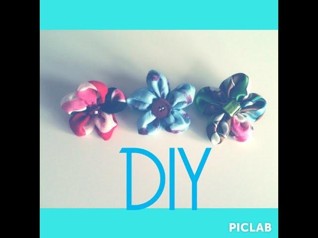 DIY! VIDEO TUTORIAL: Spilla fiore di stoffa handmade fai da te