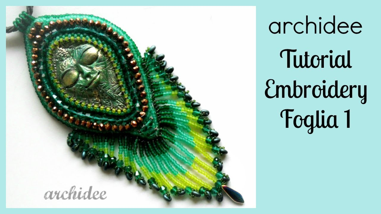 Embroidery | Tutorial | Foglia | Incastonatura | DIY Embroidery Leaf | 1