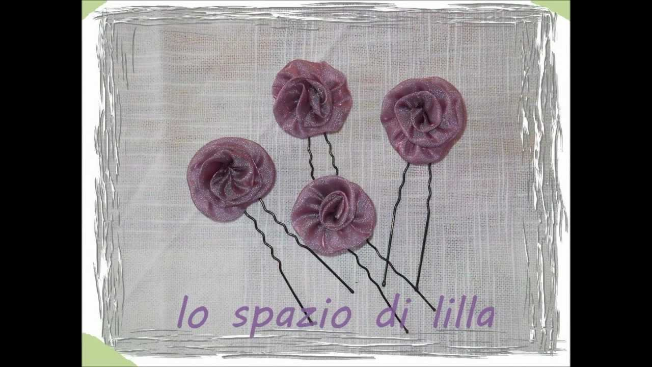 Lilla's tutorials: facciamo le roselline in organza. let's make organdis rosettes