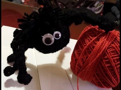 Ragnetto all'uncinetto -Tutorial uncinetto amigurumi - spider crochet - araña crochet