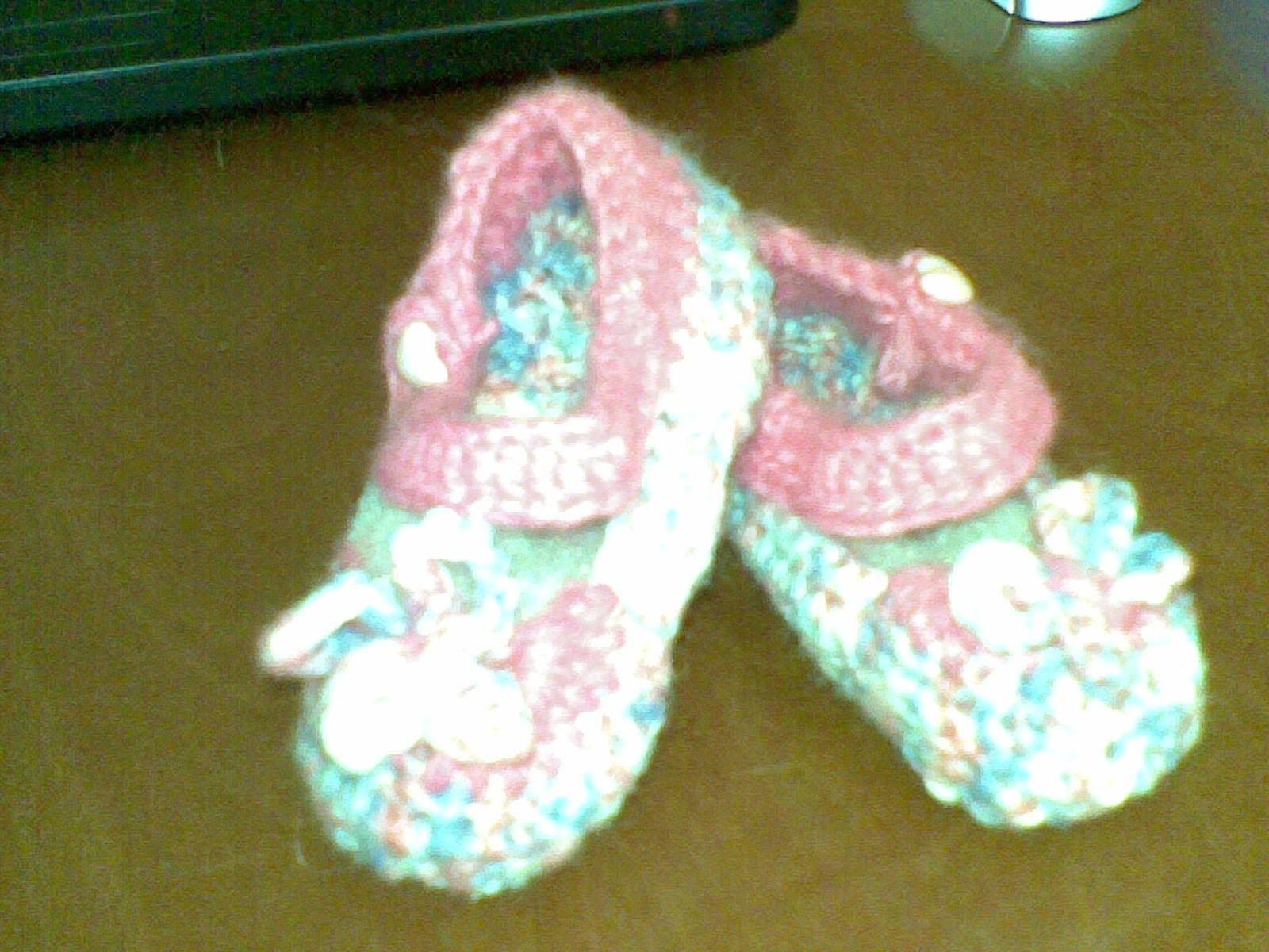 Scarpetta bimba (baby shoe )parte 1