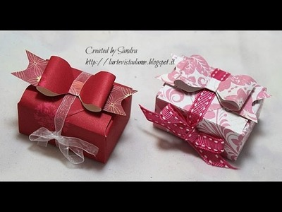Scatoline portaconfetti. gioielli (packaging) con Envelope punch board-Scrapbooking tutorial