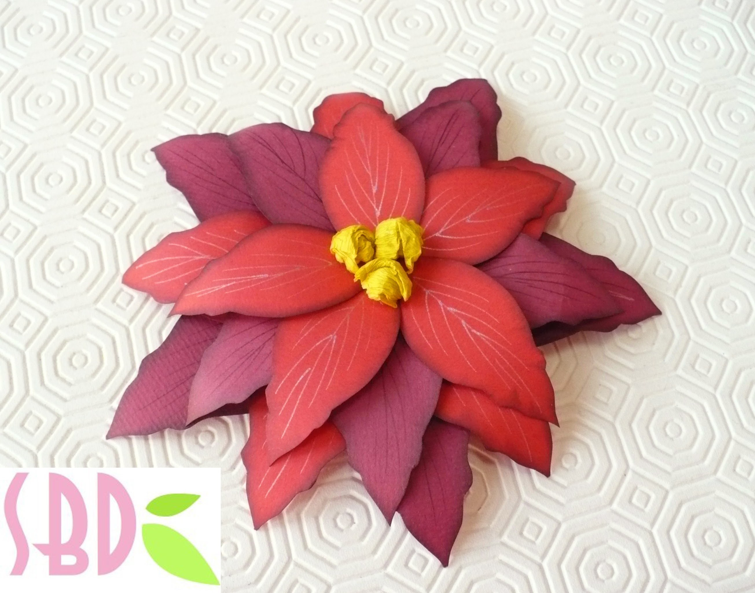 Scrapbooking tutorial: Stella di Natale di carta - Paper Christmas flower