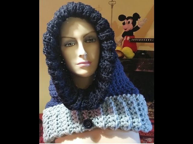 Tutorial Cappuccio all'uncinetto - crochet hood - capucha crochet