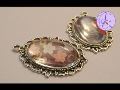 Tutorial: Ciondolo.cammeo con cabochon in resina (altered art- cameo with resin cabochon) [eng-sub]