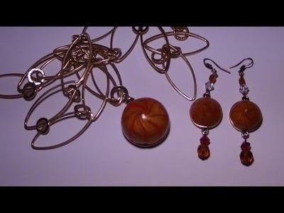 Tutorial: Collana e orecchini con perle in Fimo (polymer clay tutorial)