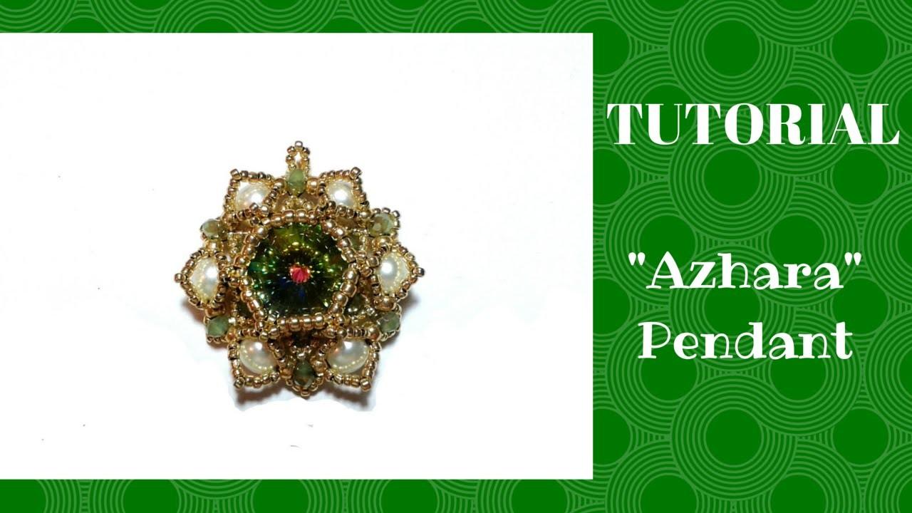 """Tutorial: Come realizzare un ciondolo """"Azhara"""" con perle, rocailles e rivoli Swarovski"""