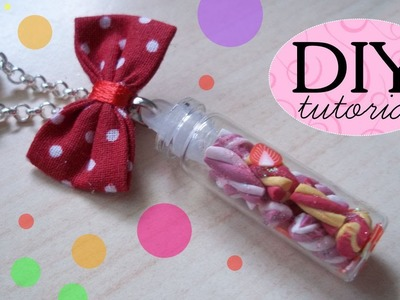 Tutorial FIMO: Marshmallows in bottiglietta  ❤  DIY Polymer Clay: Marshmallows Bottle Charm ❤