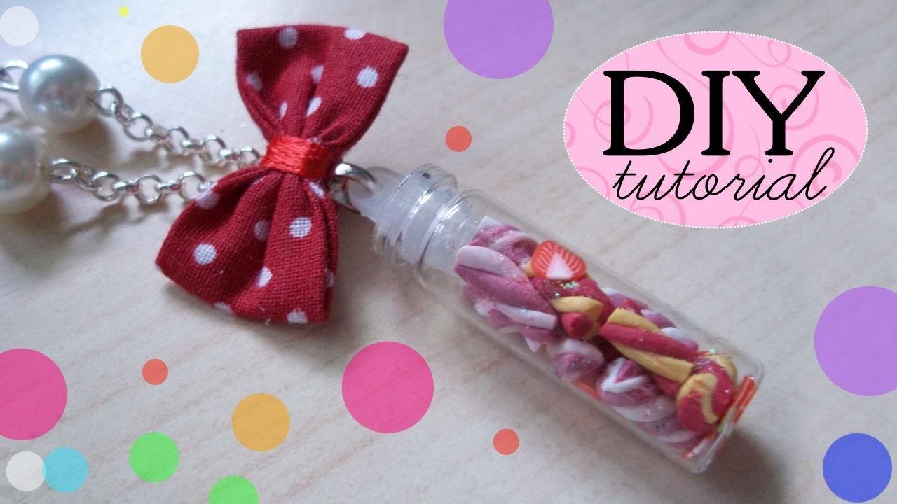 Tutorial FIMO: Marshmallows in bottiglietta  ❤  DIY Polymer Clay: Marshmallows Bottle Charm ❤