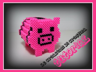 Tutorial Maialino Salvadanaio 3D con Hama Beads - Collaborazione con www.perlinedastirare.it