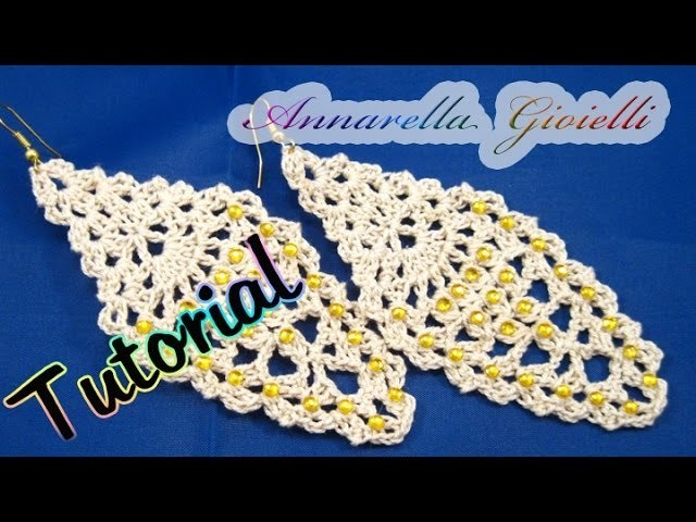 "Tutorial orecchini ""leaf"" foglia all'uncinetto 