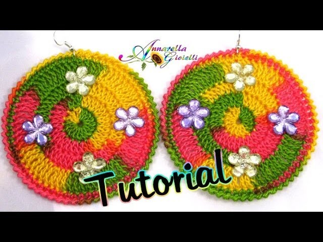 Tutorial Orecchini Uncinetto Multicolor | How to crochet earrings