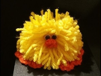 Tutorial pulcino all'uncinetto e pompon - chick crocheted - polluelo crochet