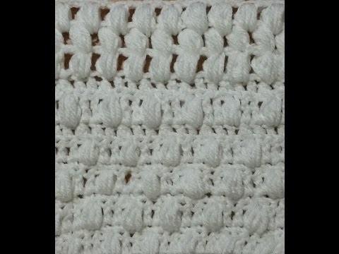 Tutorial punto puff o pop corn all'uncinetto con varianti - puff stitch crochet  -