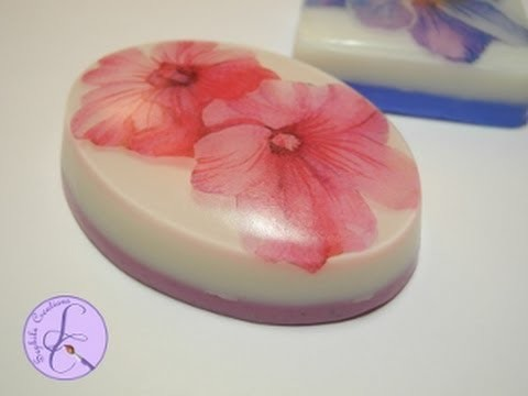 Tutorial: Saponette decorative con carta di riso (decorative soap with rice paper) [eng-sub]