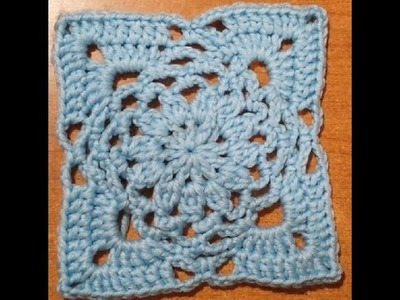 Tutorial uncinetto - la piastrella cerchio e quadrato - tile crochet - baldosa de ganchillo