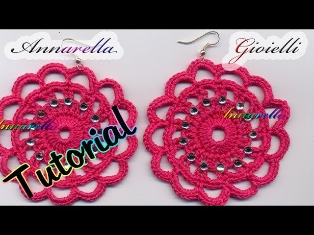 Tutorial Uncinetto | Orecchini Romantici | How to crochet earrings