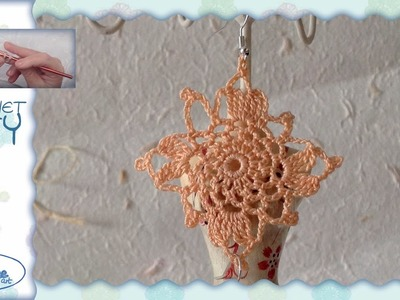 Tutorial Uncinetto ❀ Orecchini ❀ (2- floreali) [crochet earrings] [ITA - ENG instructions + pattern]