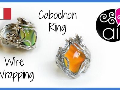 Wire wrapping Cabochon Ring Tutorial | Incastonare un cabochon in un anello wire