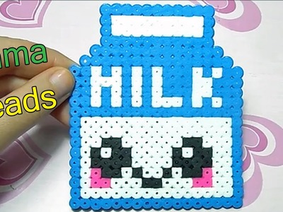 Cartoncino di Latte con Pyssla.Hama Beads - Kawaii Milk Perler Bead Tutorial