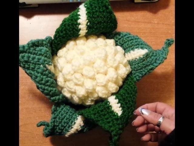 Cavolo o cavolfiore all'uncinetto - amigurumi - Tutorial Crochet