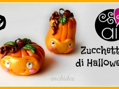 DIY Halloween Pumpkin | Polymer Clay Tutorial | Zucchette di Halloween