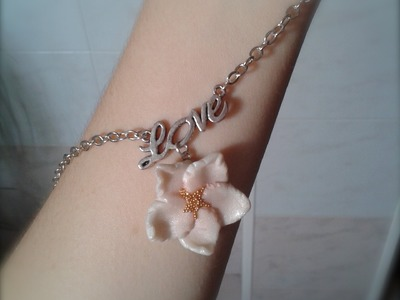 DIY Polymer Clay: Tutorial Collana con Fiore di Mandorlo. Almond Blossom Necklace