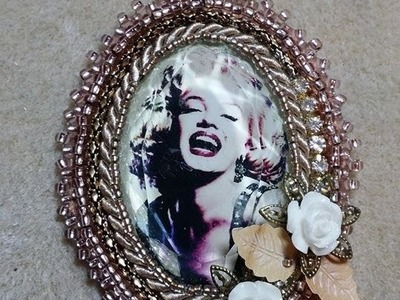 DIY - Tutorial ciondolo Marylin - tecnica embroidery beads