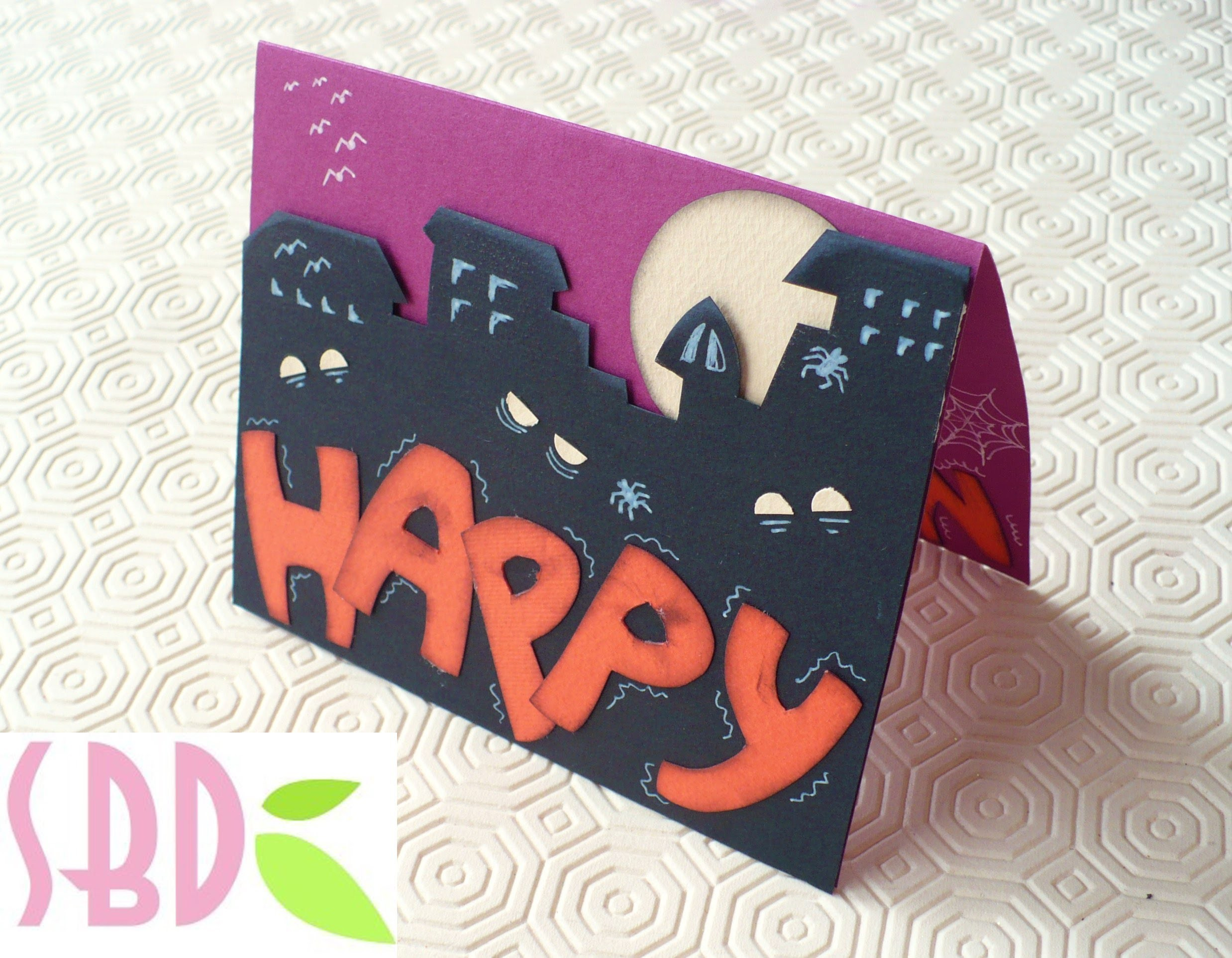 Halloween Series: Scrapbooking tutorial Biglietto Happy Halloween!