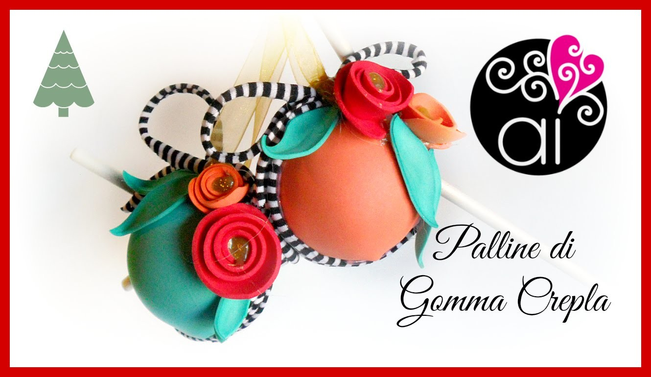 Palline di Natale in Gomma Crepla   DIY Christmas Fommy Decorations   Last Minute Christmas #1