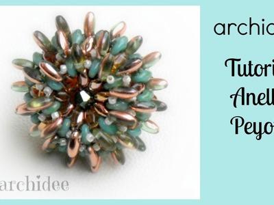 Peyote | Tutorial | Anello Riccio di Rizo o di Magatama + SuperDuo o Twin Beads | DIY Beadwork