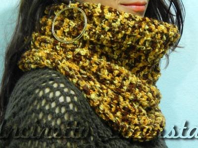 Sciarpa all'uncinetto a cappuccio | Hoodie crochet scarf tutorial