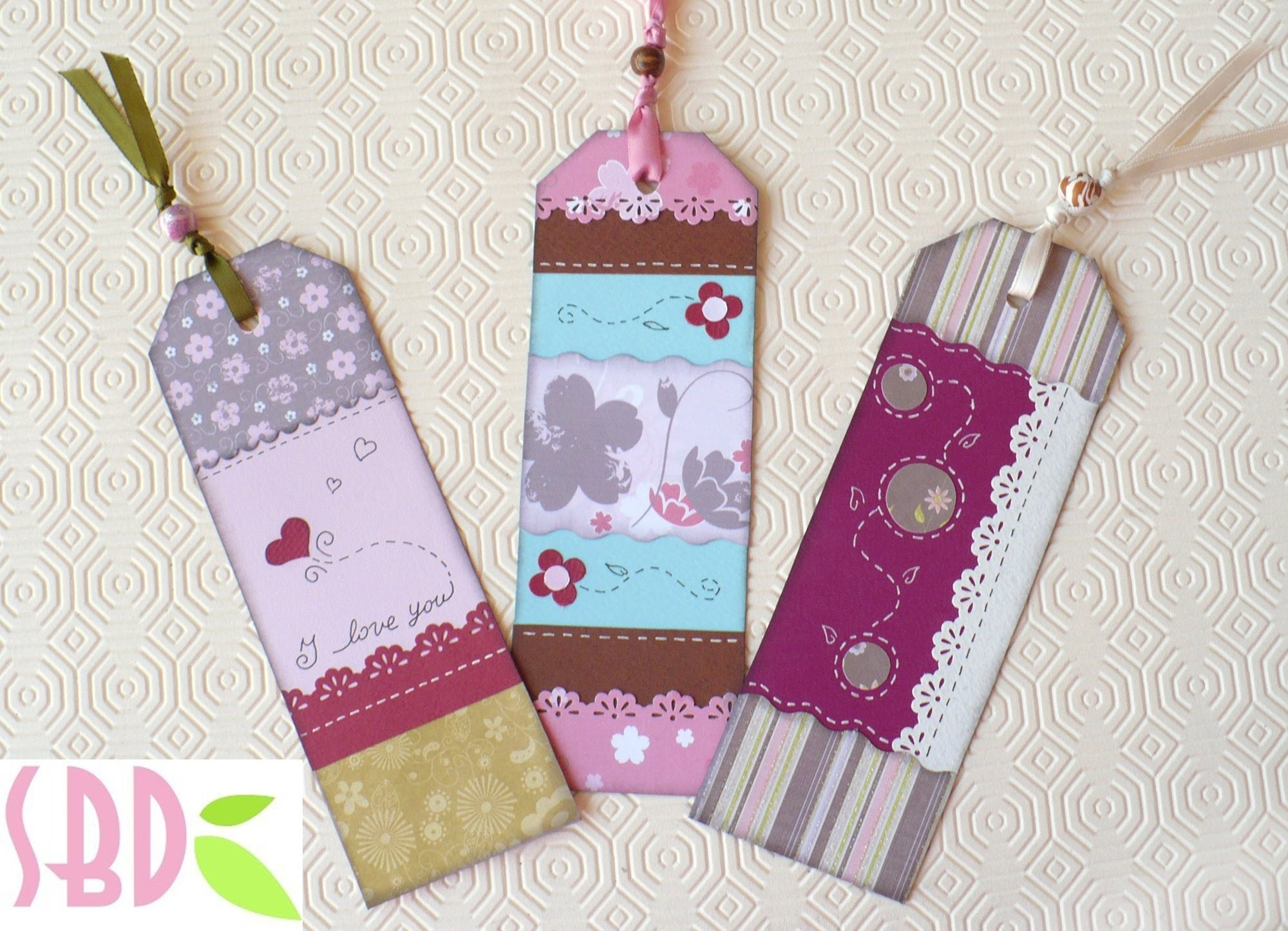 Scrapbooking Tutorial: segnalibro fantasia! - Fanciful bookmark!