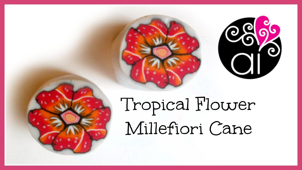 Tropical Flower Cane | Polymer Clay Tutorial | Millefiori Cane | Murrina Fiore Tropicale