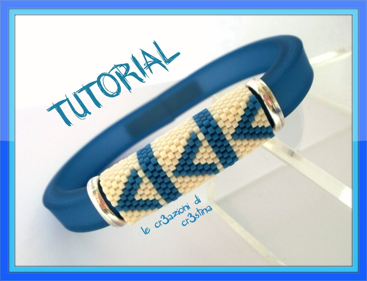Tutorial Bracciale da Uomo con Regaliz in Plastica e Fascia in Peyote Dispari - DIY Bracelet for Men