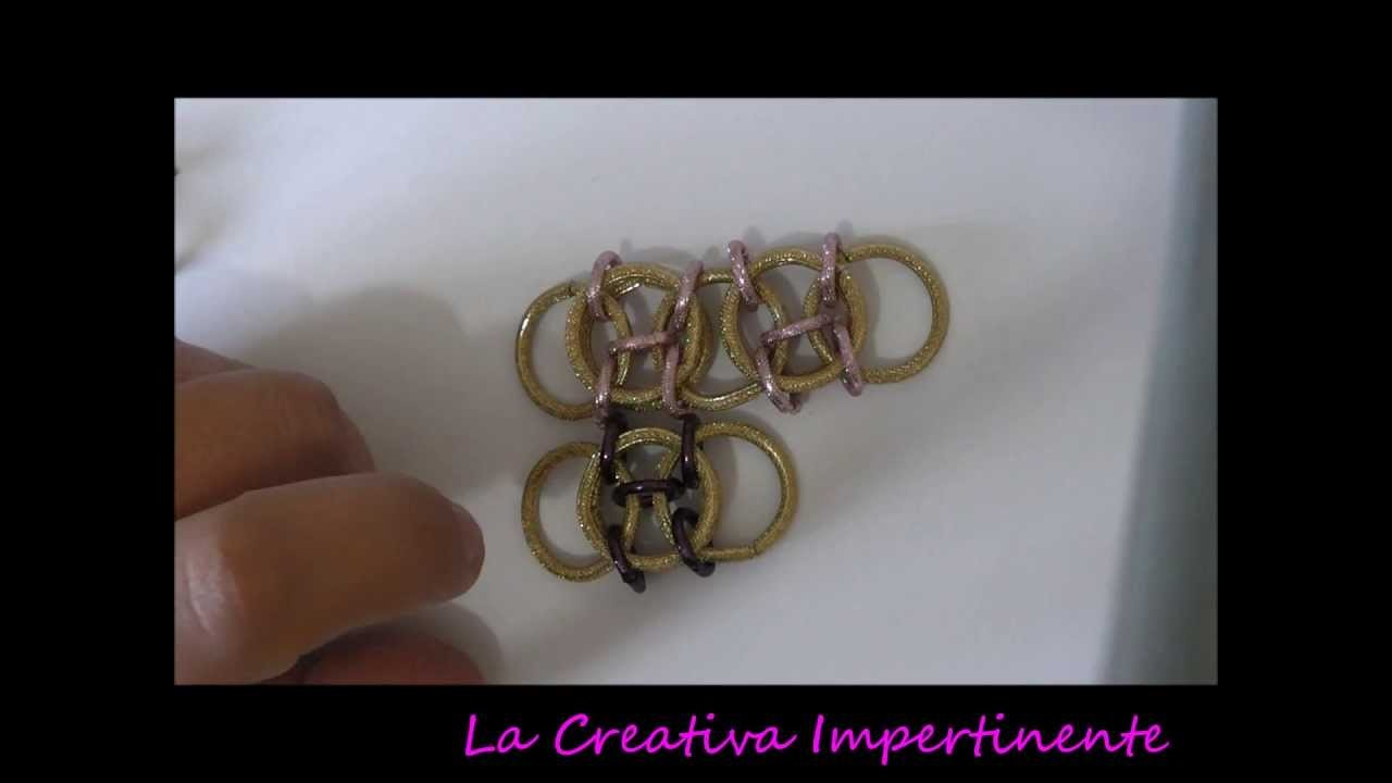Tutorial Chain Maille: Maglia Celtica | DIY celtic pendant stitch chain mail