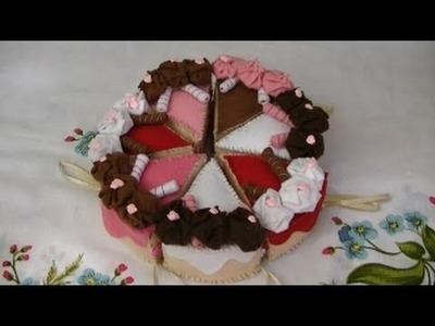 Tutorial: Fettine di torta in pannolenci (felt slices of cake)