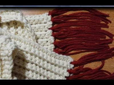 Tutorial sciarpa a coste all'uncinetto - crochet scarf - bufanda del ganchillo