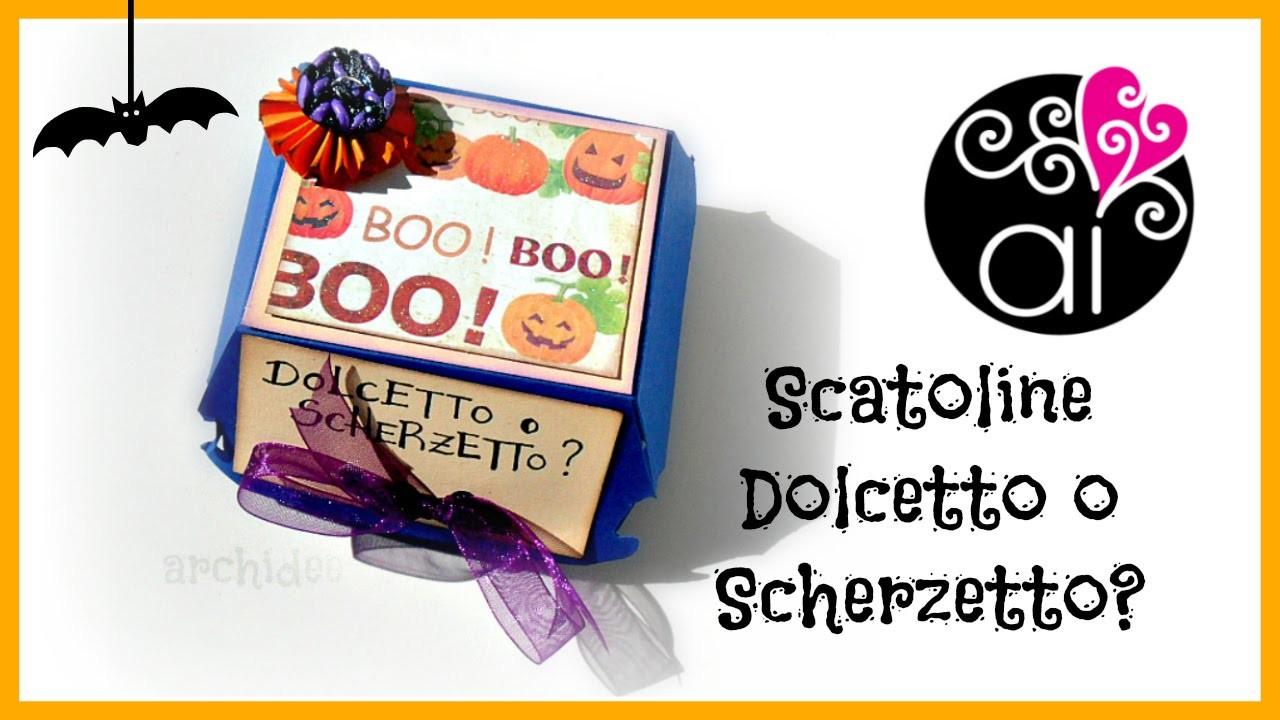 Tutorial | Scrapbooking | Scatolina per dolcetti MacHalloween | DIY Halloween Box