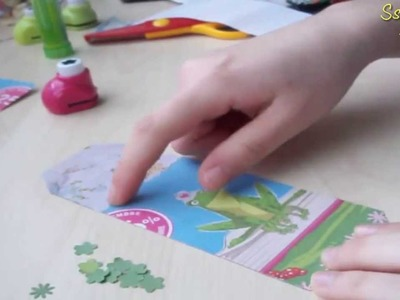 Tutorial Scrapbooking: Segnalibro con carta riciclata ✂ DIY Easy Bookmark