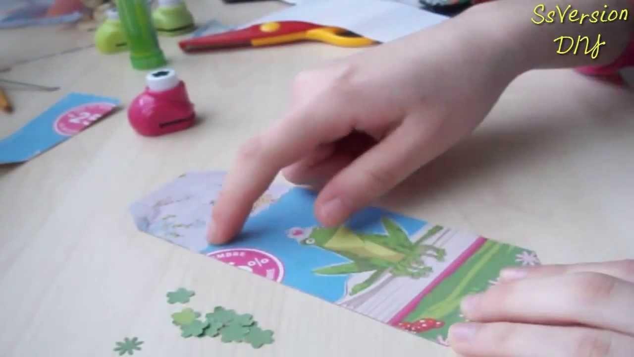 Tutorial Scrapbooking: Segnalibro con carta riciclata ✂ DIY Easy Bookmark