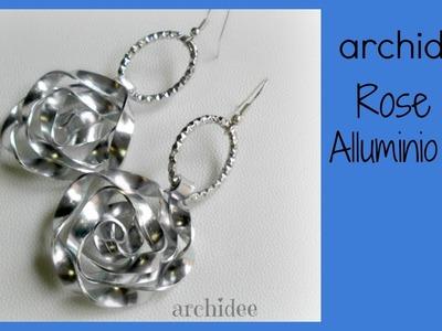 Tutorial   Tecnica Wire   Rosa in Alluminio Piatto   Flat Aluminum   DIY Rose