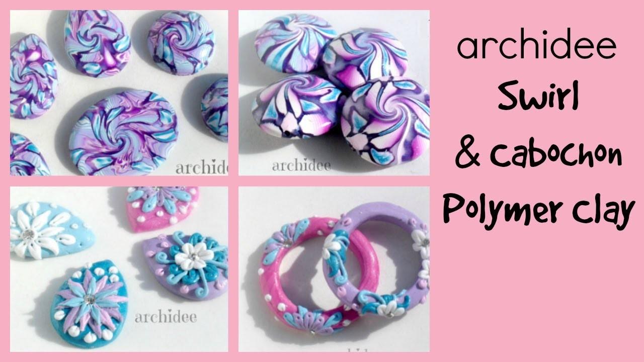 Video Creazioni | Polymer Clay | DIY Cabochon | Swirl | Beads