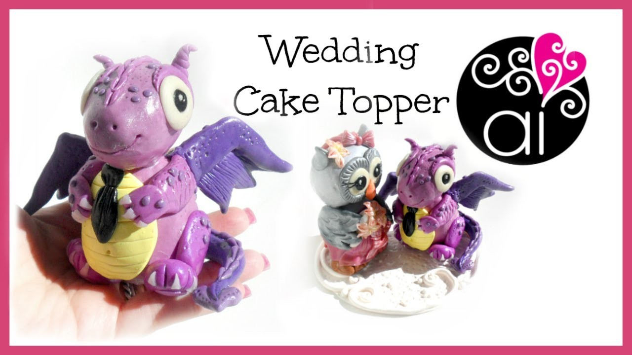 Wedding Cake Topper | Polymer Clay Tutorial | Draghetto | DIY Little Cute Dragon 2