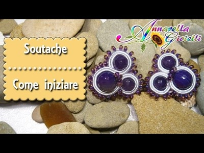 Tutorial italiano soutache | Modulo base | Incastonare le perle
