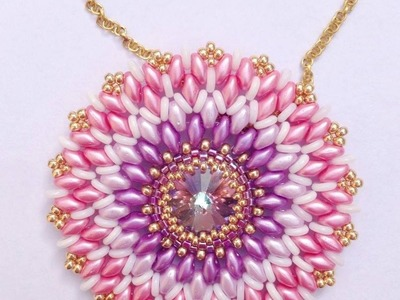 """Tutorial Ciondolo Superduo  """" Once upon a time """" - Superduo Pendant"""