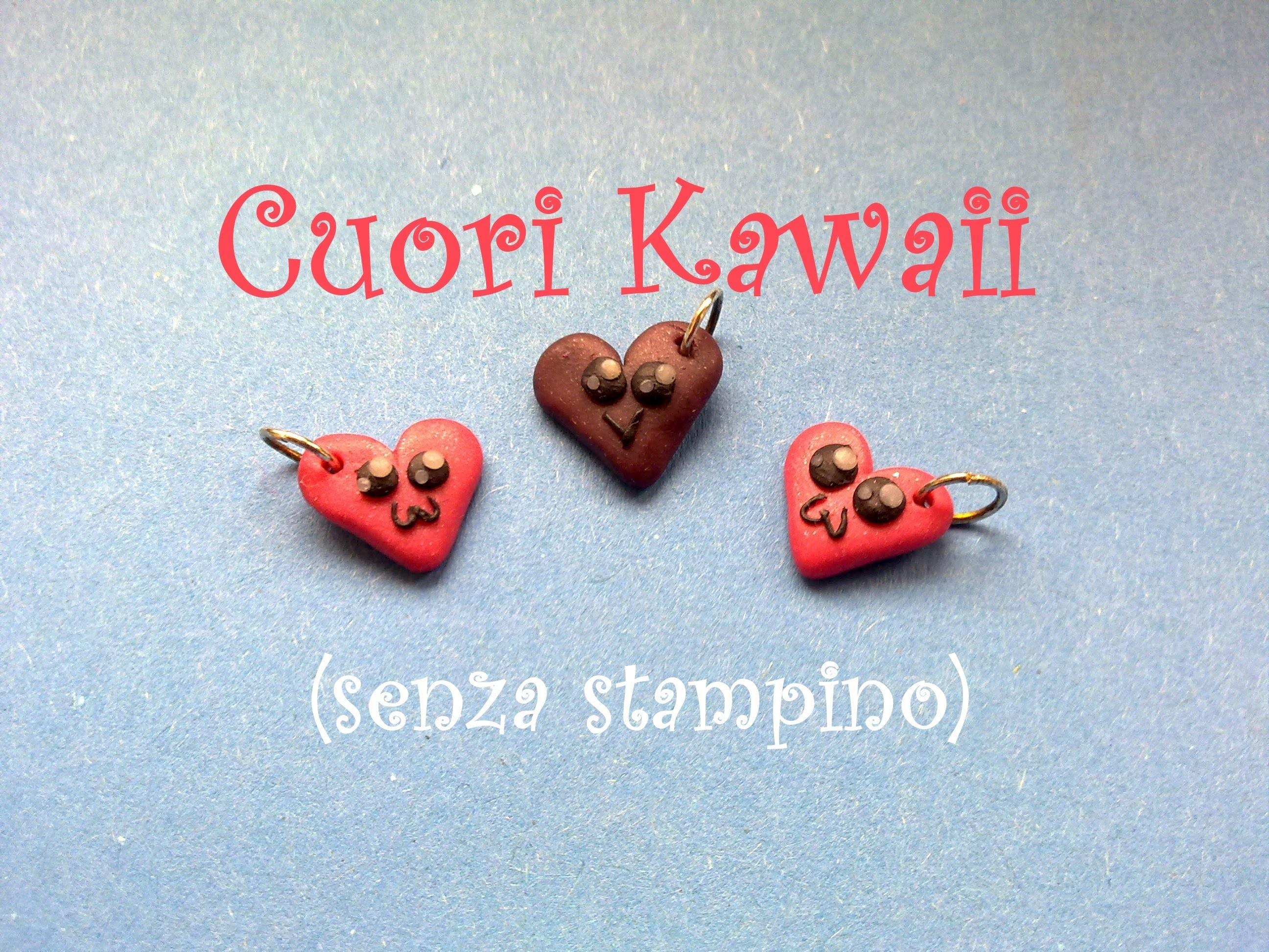 Cuore Kawaii senza stampino ♥‿♥ Kawaii Heart without mold - Polymer Clay Tutorial